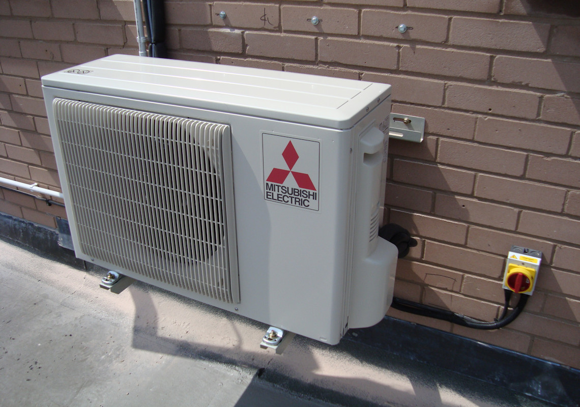 Mitsubishi Electric Outside Unit: Mitsubishi Electric Outdoor Unit.  Mitsubishi Electric Air Conditioning Unit